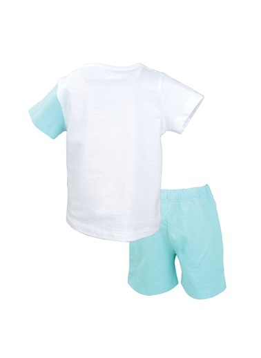 Mininio Beyaz Elephant Kulaklı T-Shirt ve şort Takım (3-24ay) Beyaz Elephant Kulaklı T-Shirt ve şort Takım (3-24ay) Beyaz